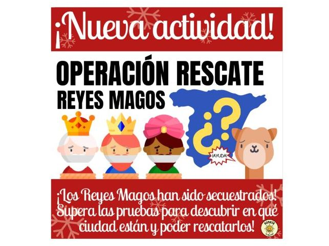 Operación Rescate Reyes Magos. Clase Navidad. Spanish Christmas game. Full lesson with answers
