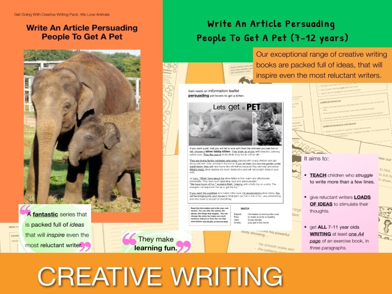 Write An Article Persuading People To Get A Pet (7-13 years)