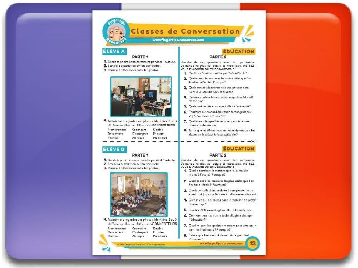 L'éducation - French Conversation Activity