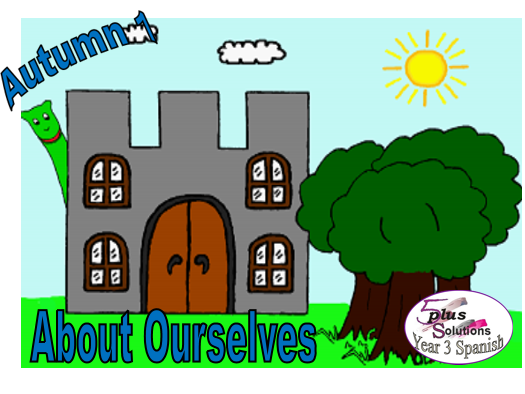 Primary Spanish PUPIL WORKBOOK: Year 3 About Ourselves (7 b/w worksheets in A3 & A4 format)