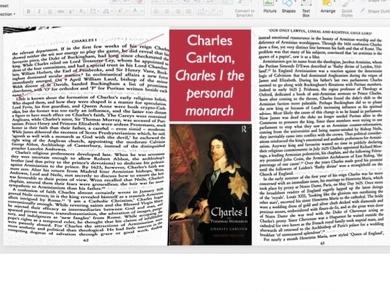 Early reign of Charles I: Religious change