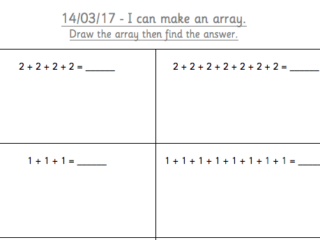 Can you draw an array?