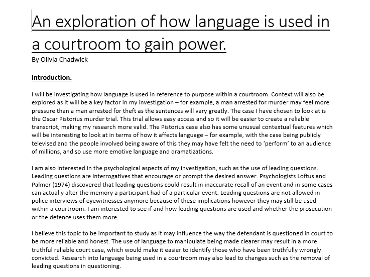 A level english language coursework help