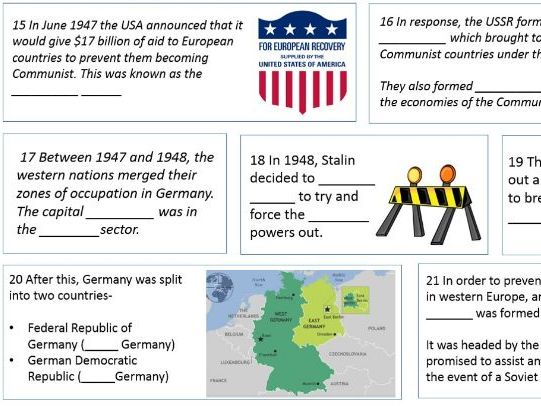 GCSE History Superpowers Relations revision comic strip