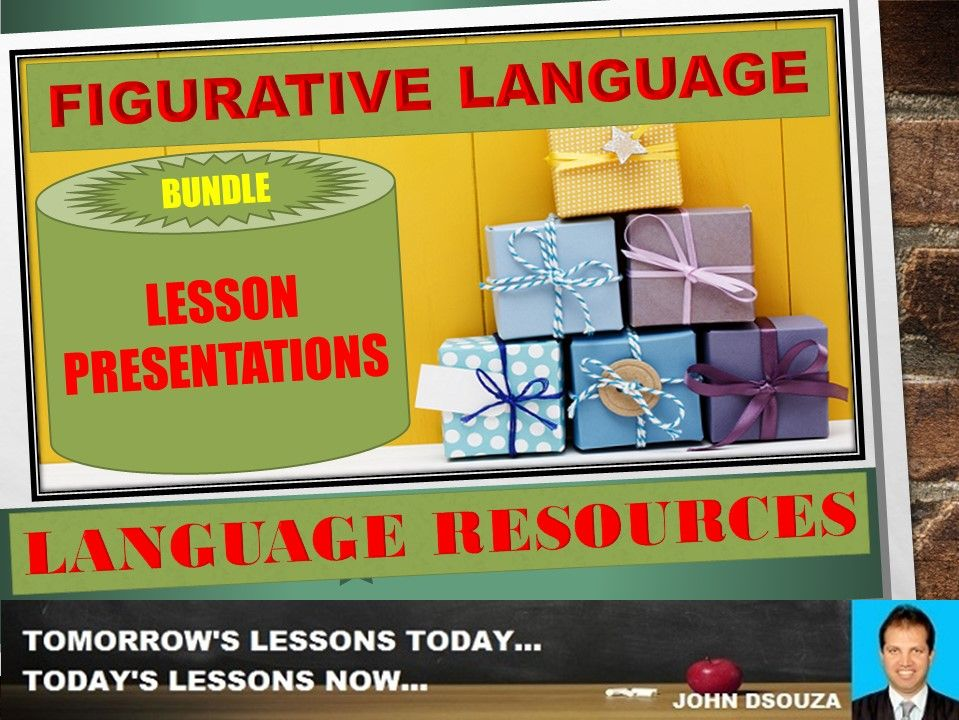 FIGURATIVE LANGUAGE LESSON PRESENTATIONS BUNDLE
