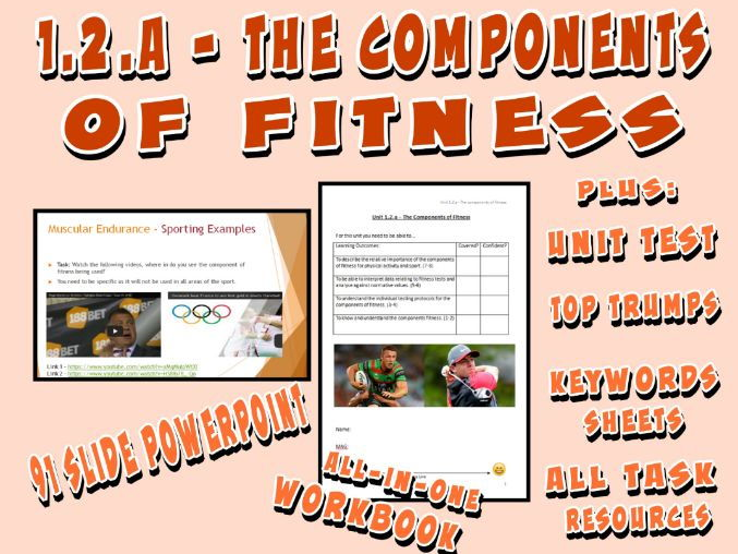OCR GCSE PE 9-1 (2016) 1.2.a - The Components of Fitness - Unit of Work