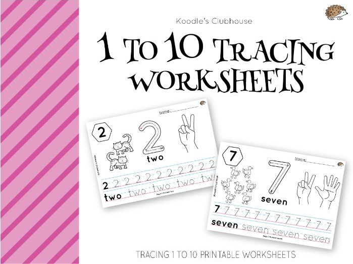 Numbers 1 to 10 tracing worksheets