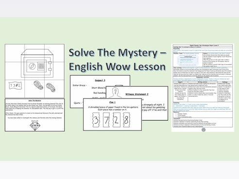 Solve The Mystery - English Escape Room Activity