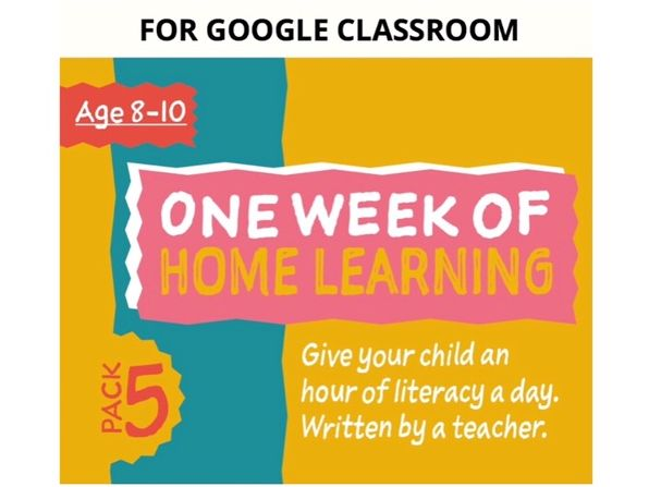 Digital Distance Learning Resource For Google Classroom: Pack 5 (8-10 years)
