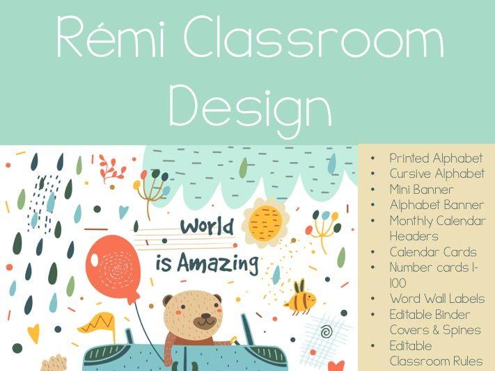Rémi Classroom Decor Set