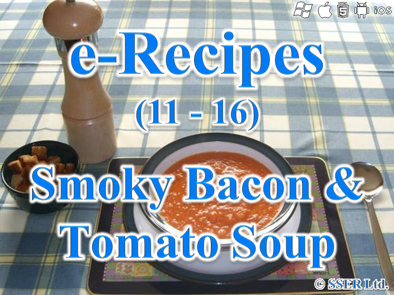 23.   Smoky Bacon & Tomato Soup (e-Recipe)