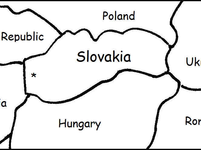 SLOVAKIA - Printable worksheets include a map to color