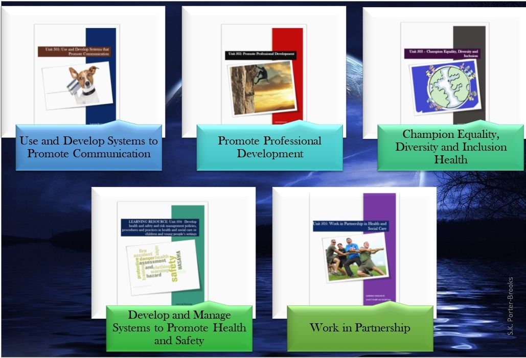 Level 5 H&SC: Units 501, 502, 503, 504 & 505 - Learning aids, resources and workbook
