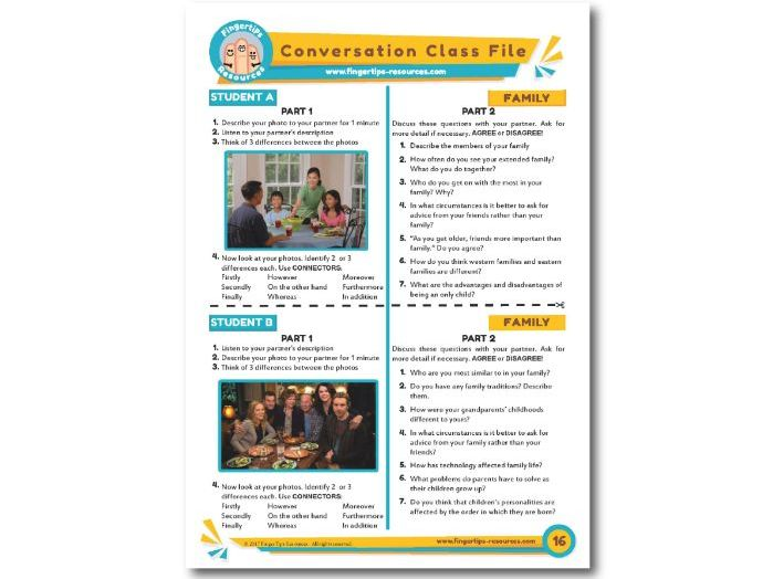 Family - ESL Conversation Activity