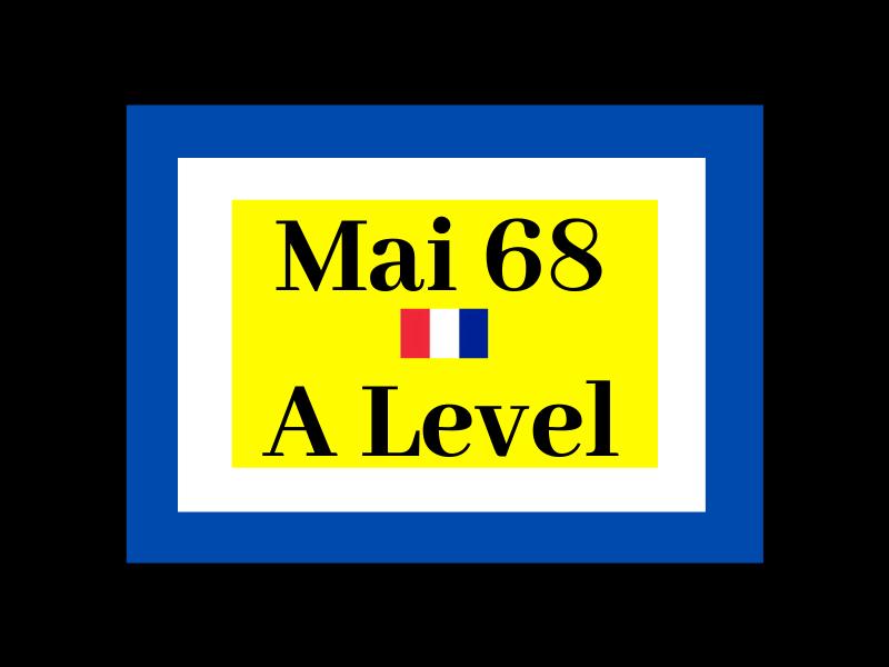 Mai 68 French A Level