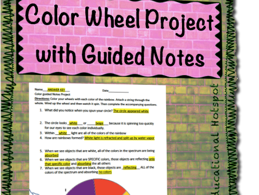 Color Wheel Project with Guided Notes