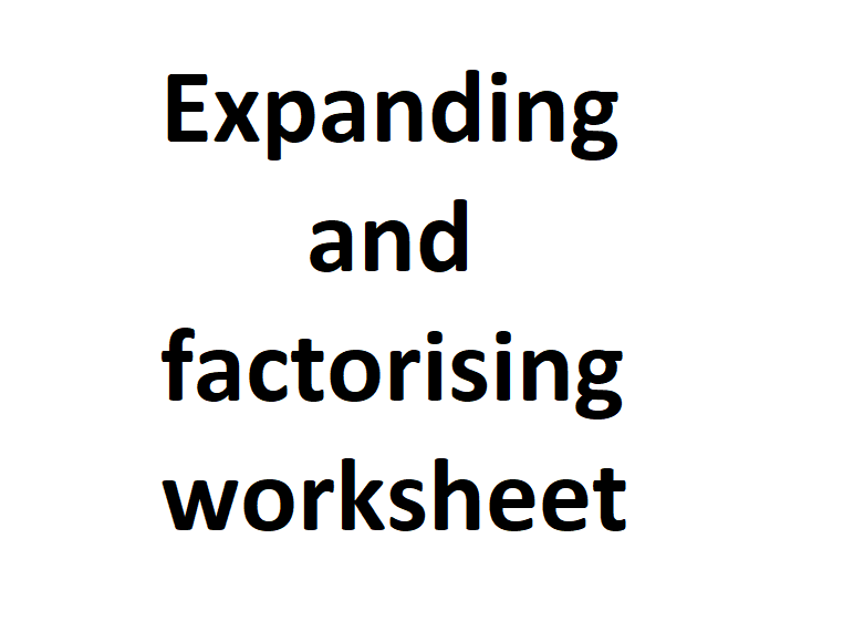 Expanding and factorising worksheet with answers
