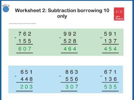 Add & Subtract 3 Digit Numbers:  Worksheets.