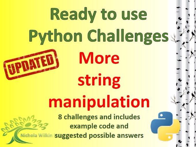 Python More String Manipulation