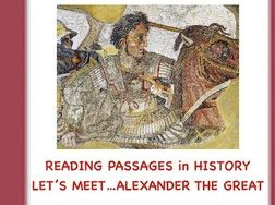 Alexander the Great: A Reading Activity