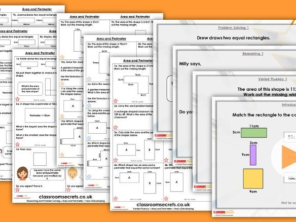 Year 6 Area and Perimeter Spring Block 5 Step 2 Maths Lesson Pack