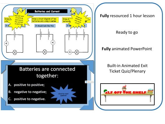 Electricity - Adding Batteries Affects Current in Circuits KS3  - Fully Resourced Lesson