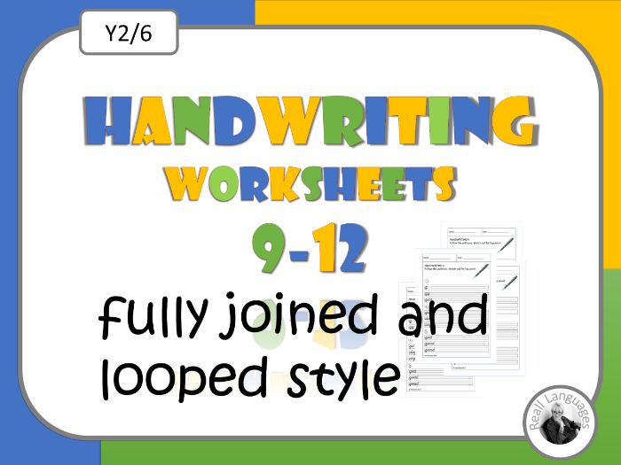 Cursive Handwriting Worksheets   9-12