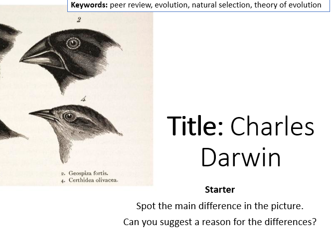 AQA Activate 2 Charles Darwin [Including video link and related worksheet]