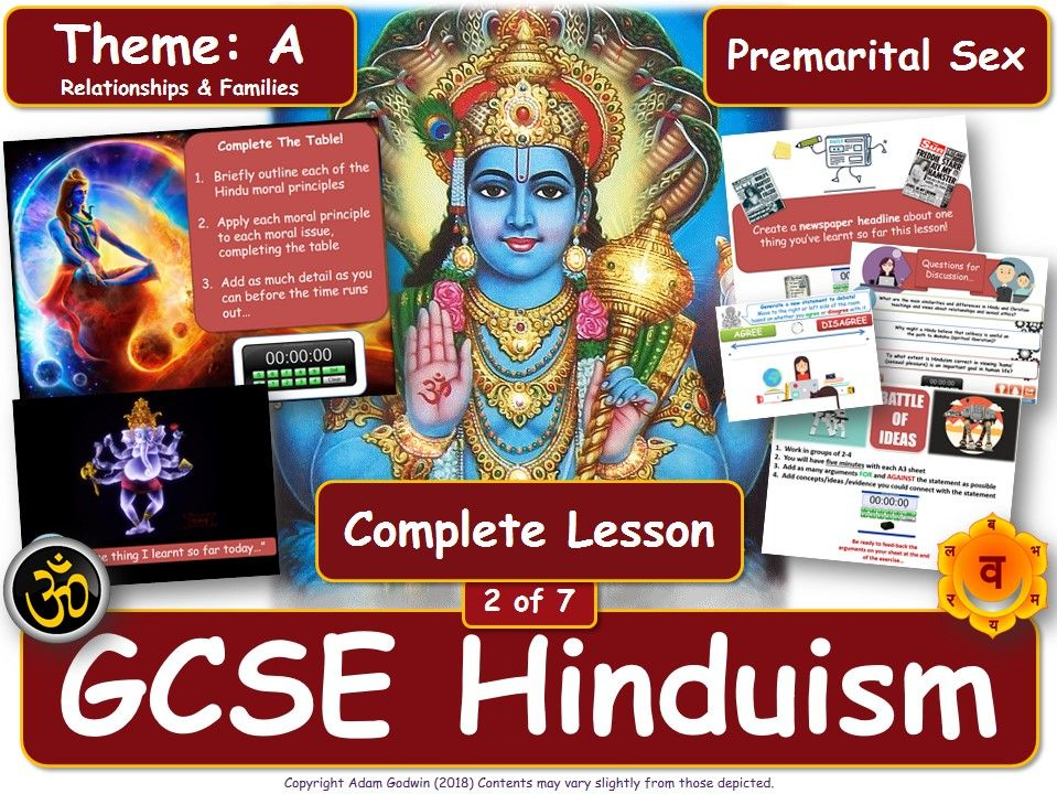 Premarital Sex & Promiscuity - Hindu Views (GCSE RS - Hinduism - Relationships & Families) L2/7