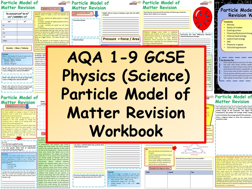 AQA 1-9 GCSE Physics (Science) Particle Model of Matter Revision Workbook