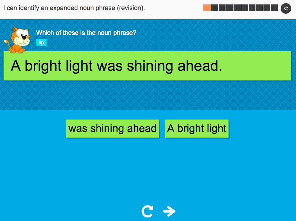 I can identify an expanded noun phrase (revision) - Interactive Activity - Year 4 Spag