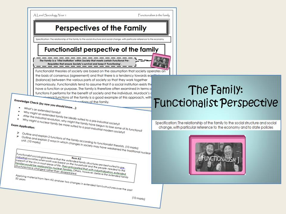 AQA Sociology - Year 1- Families & Households - Functionalism & the Family