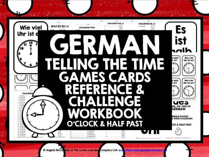 GERMAN  TELLING TIME 1