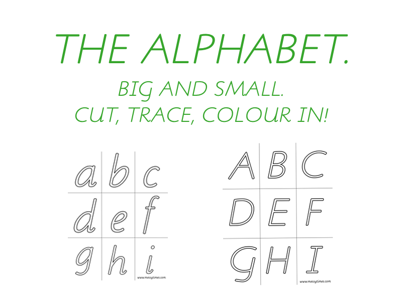 Alphabet - for colouring or tracing