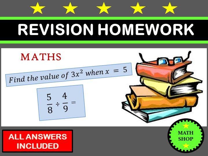 Maths Revision Homework