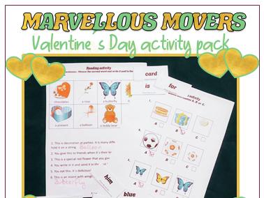 Valentines day activities for school: Cambridge Movers Exam