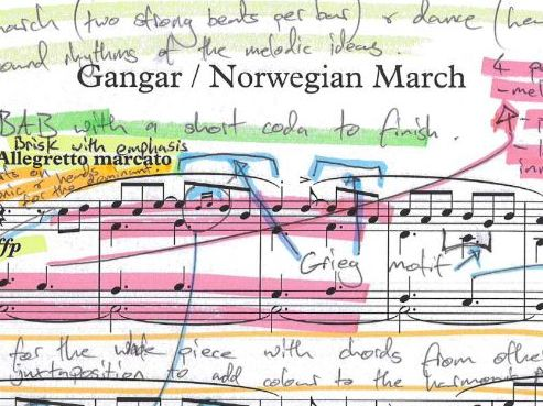 Grieg Norwegian March Op.54 No.2-Annotated