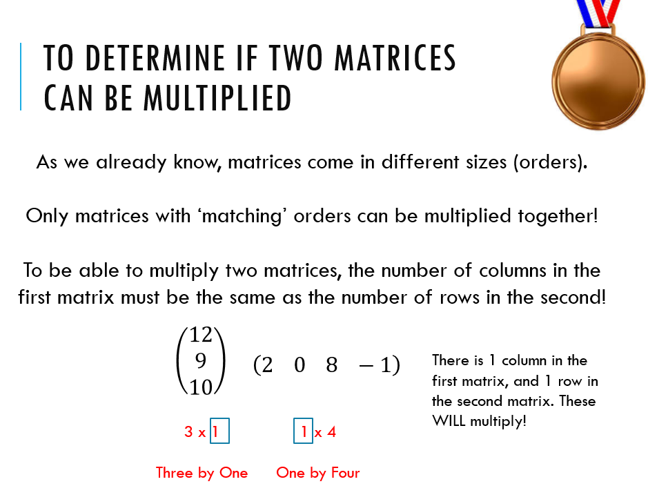 AQA Level 2 Further Maths - Matrices lesson 2