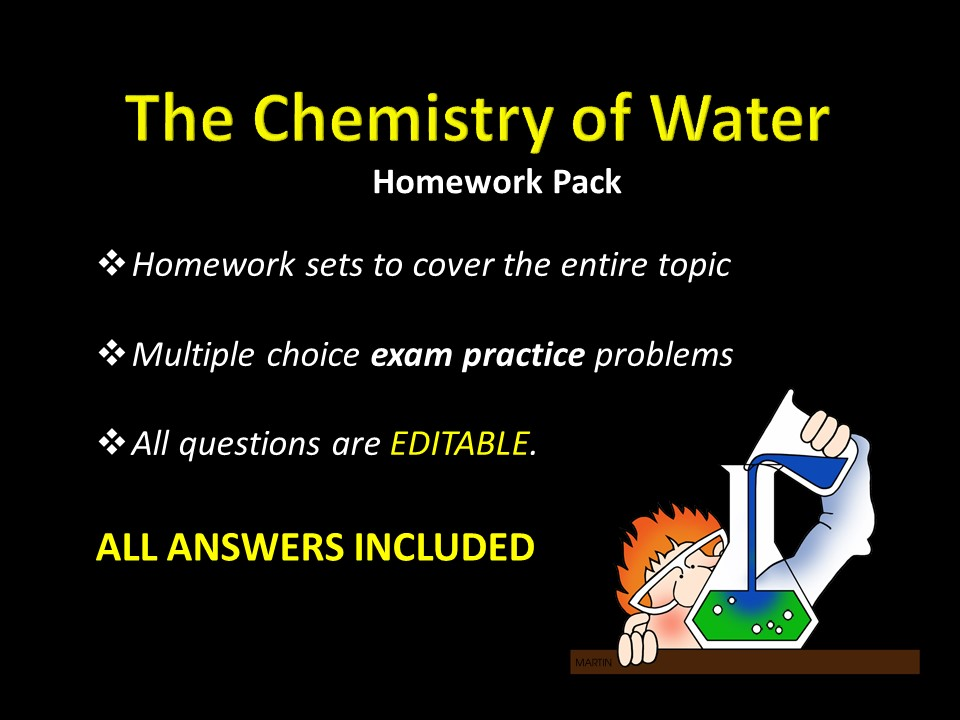 The Chemistry Of Water Homework W Answers Sample Test Questions