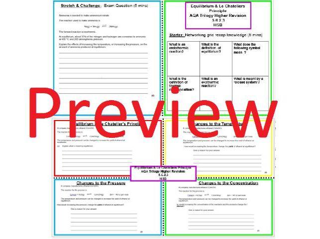 Revision Equilibrium Booklet KS4