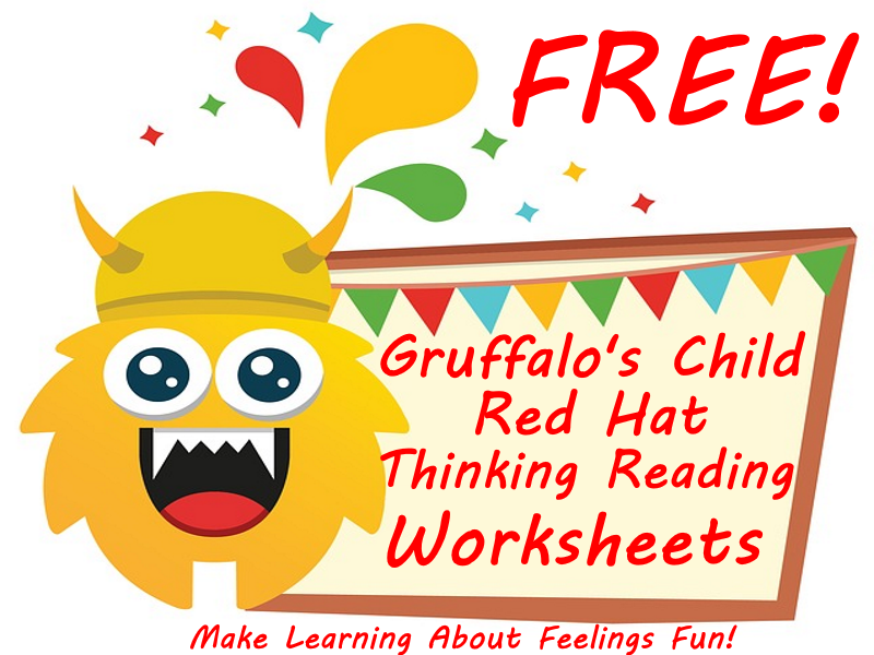 FREE Gruffalo's Child - Red Hat Thinking Worksheets - Make Learning About Feelings Fun!