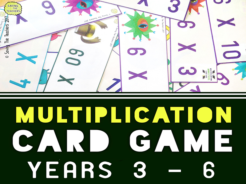 Multiplication Facts Card Game Activity: Years 3 - 6
