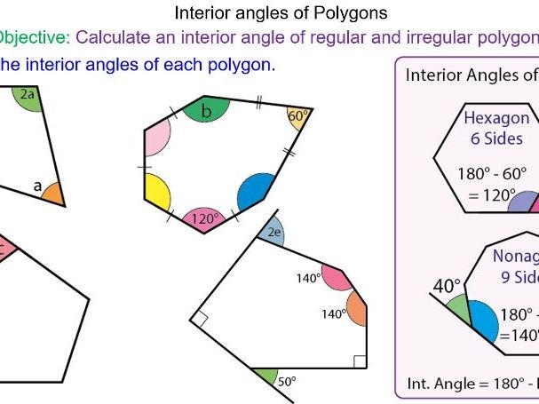 Angles in polygons worksheet ks3