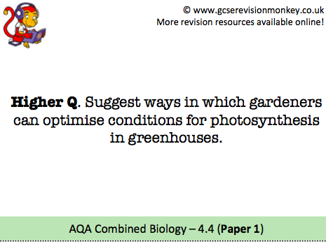 Revision Cards - AQA Combined Biology 4.4