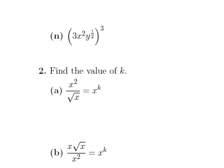 Indices worksheet no 6 (with solutions)