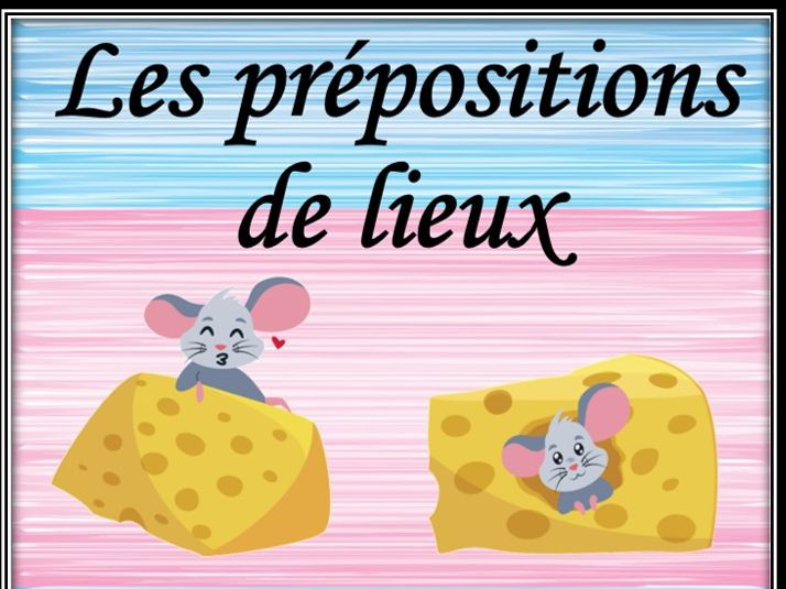 French prepositions of place. Dominoes