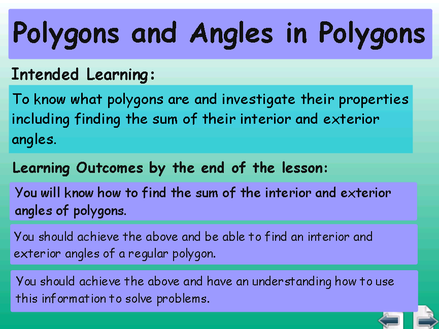 Internal Angles in Polygons