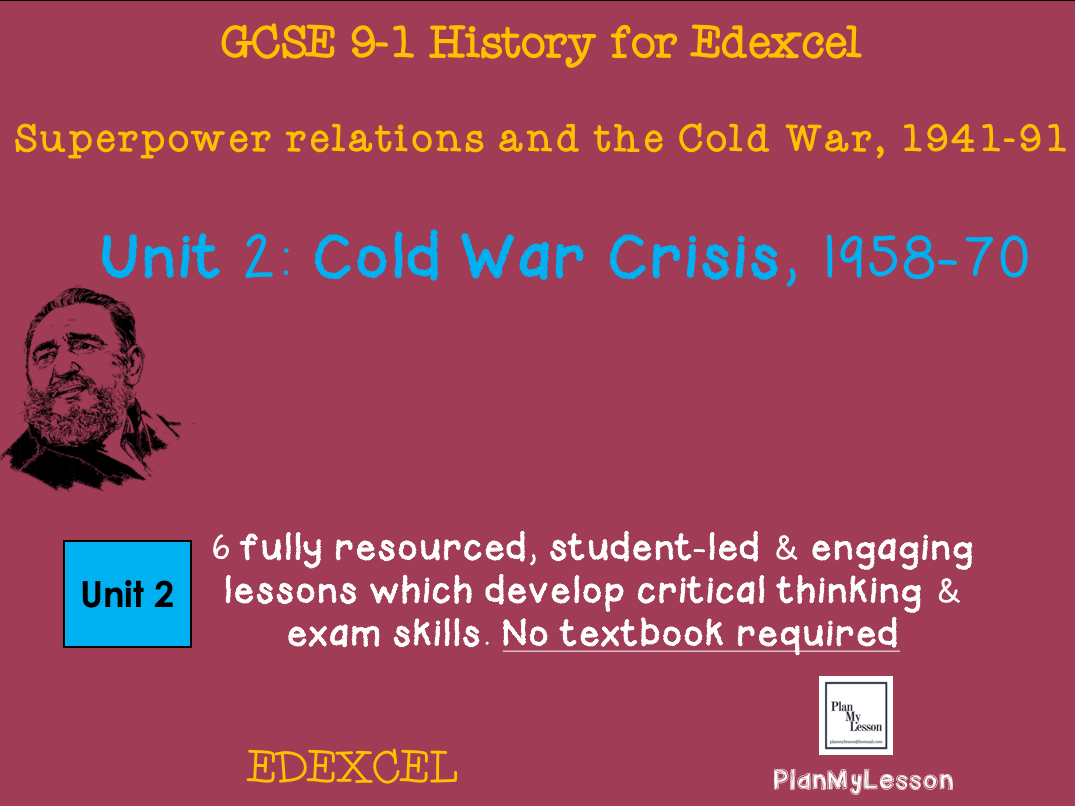GCSE Edexcel Superpower relations & the Cold War. Unit 2: Cold War crisis, 1958-70