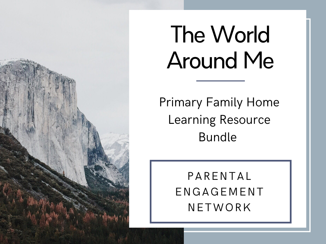 The World Around Me Primary Family Home Learning Resource Bundle