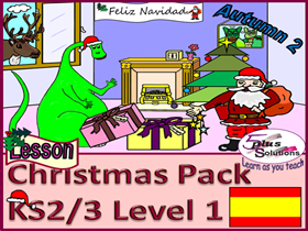 CHRISTMAS PRIMARY SPANISH LESSON PACK (KS2/3): Jingle Bells Words & Music in Spanish; Fun Workbook